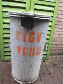 Zinken vuilnisbak 110 liter