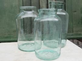 Antieke glazen Hongaarse inmaakpot van 10 liter