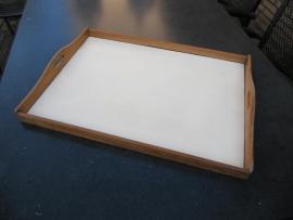 Brocante houten dienblad.