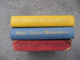 3 stuks zakwoordenboekjes uit 1952 en 1953.