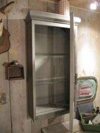 Heel mooi Frans brocante vitrine kastje