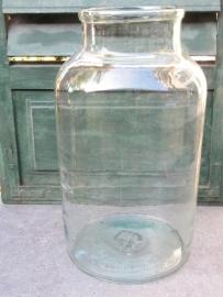 Mooie Antieke glazen pot of bokaal van 15 liter
