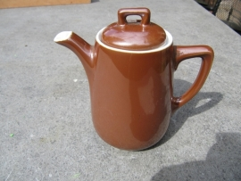 Bruin koffiepotje