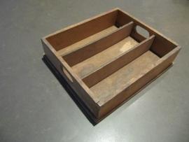 Brocante  houten buro (lade) bakje