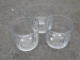 Theelichtje geribbeld glas