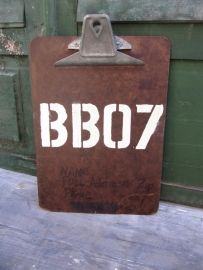 Oud brocante industrieel clipboard