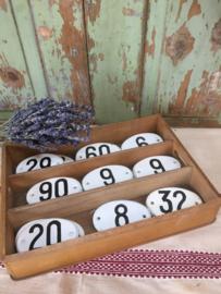 Enamel oval number plates