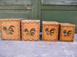 Amerikaanse houten kistjes met deksel