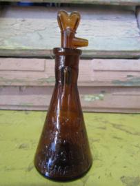 Antiek Frans bruin stolpflesje