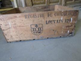 Antieke Franse houten kist