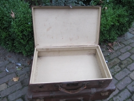 Oude bruine koffer