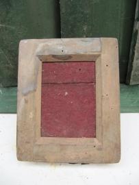 Zeldzaam Antiek leuk houten fotolijstje