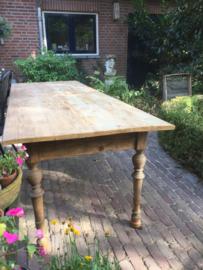 Brocante houten grote tafel