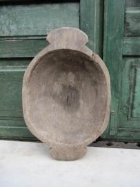 Antieke houten deegbakje