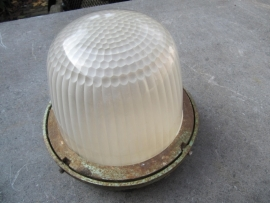 Oude Franse Holophane lamp