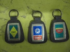 Set vintage sleutelhangers