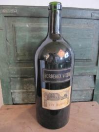 Franse oude grote Bordeaux fles van 5 liter