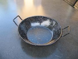 Leuke zwart emaille (wok)pannetje