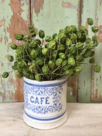 Oud aardewerk potje café