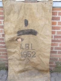Jute zak oud uit Belgisch leger 1952