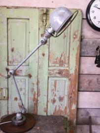 Oude jieldé lamp met 2 armen