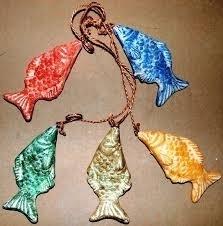 Terracotta vissen catch off the day