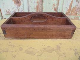 Oude 2vaks houten bak
