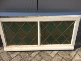 Antiek glas in lood raam