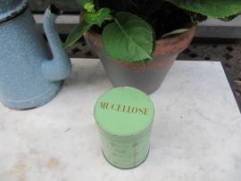 Frans brocante groen medicijn blik Mucellose