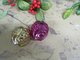 Oude kerstboomdecoratie, per 2