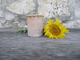 Antiek Frans aardewerk jampotje 500 ml
