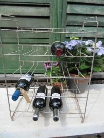 Brocant Frans verzinkt (wijn)flessenrek