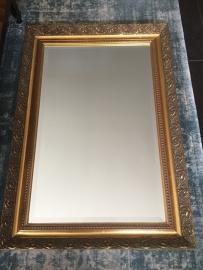 Brocante bewerkte spiegel