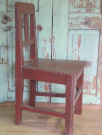 Brocante houten stoeltje