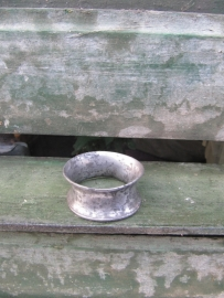Very old napkin ring, silver plated.