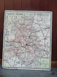 Vintage franse landkaart
