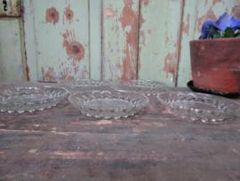 Set glazen bordjes