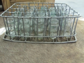 crate with 20 yogurt pots