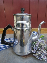 Vintage verchroomde koffiepot