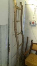 Antieke houten ladder