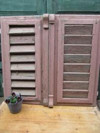 Set luiken in oud roze
