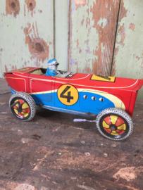 Oude blikken race auto