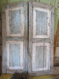 Oud houten luiken set