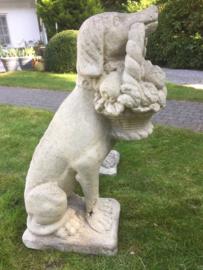 Set stenen tuinbeelden hond