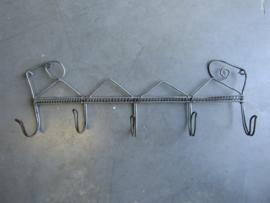 Brocant Frans metalen kapstokje