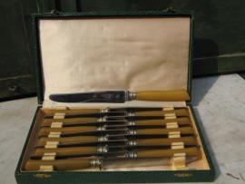Ancient brocante 12 piece knife set
