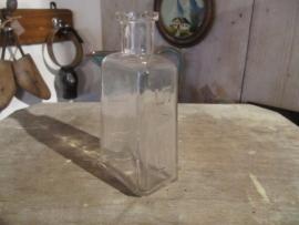 Blank glazen Frans brocante helder glazen flesje