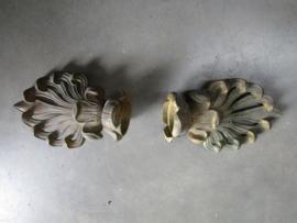 Set antieke bronzen gordijn stoppers