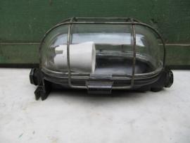 Brocante kooilamp met helderglas