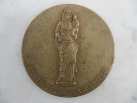 Brocante Franse plaquette in koper gelimiteerde uitgave